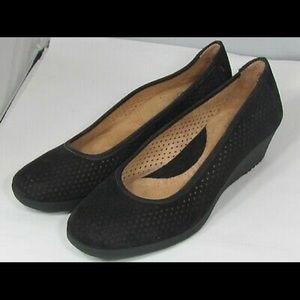 Naturalizer Alizer leather upper black net loafer
